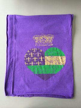 Mardi Gras Heart & Crown Purple Rush Scarf