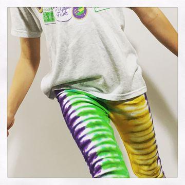 """""""Mardi Gras Tie-Dye"""" Ladies Leggings"""