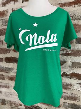 """NOLA Made Me Do It"" Ladies Tri-Blend Dolman Tee"