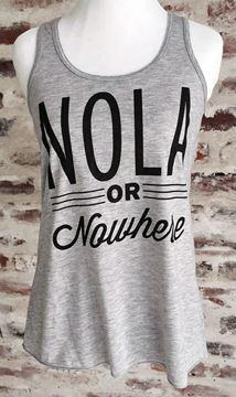 NOLA or Nowhere Women's Flowy Racerback Tank Top