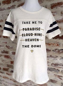 """Take Me to the Dome"" Football Short Sleeve Tee"