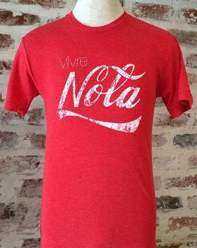 Vivre NOLA Vintage Red Unisex Tri-Blend Crew Neck Tee