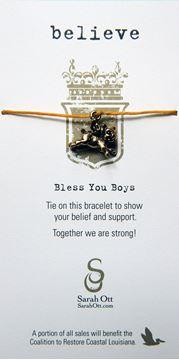 Believe, When Pigs Fly Gold Linen String Bracelet