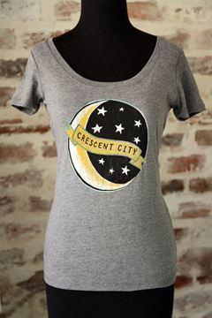 Crescent City Ladies Tri-blend Scoop Neck Tee