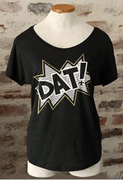 """DAT!"" Vintage Black Ladies Tri-Blend Dolman Tee"