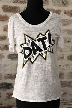 DAT! Wide U Neck Burnout Tee