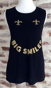 """""""Big Smiles"""" Ladies Flowy Scoop Muscle Tank"""