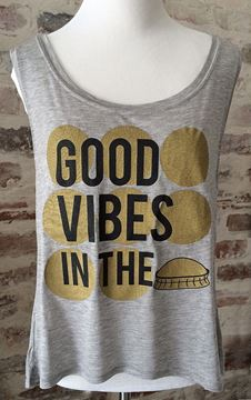 Good Vibes in the Dome Custom Wide U Neck Tank Top