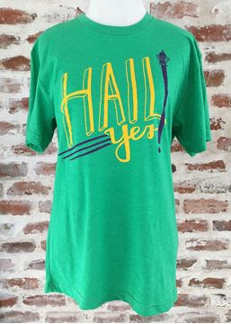 """Hail Yes"" Green Tri-Blend Unisex Crew Neck Tee"