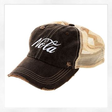 Vintage Black Cotton Brown Tint Trucker's Hat