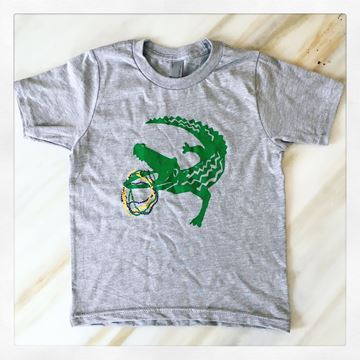 """MG Gator"" Heather Gray Kid's Short Sleeve Tee"