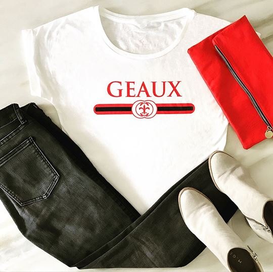 Picture of Geaux Red & Black