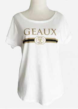 Picture of Geaux Black & Gold White Dolman