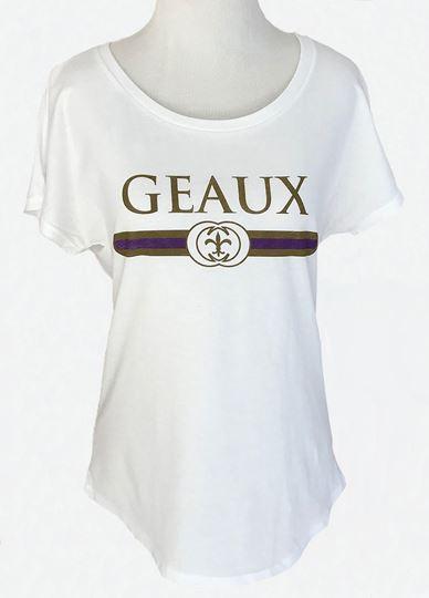 Picture of Geaux Purple & Gold Dolman